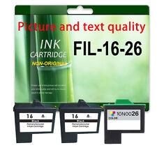 3 Ink For X1250 X2240 X2250 X1190 X1180 X74 X75 Z515 X1270 X2230 Lexmark 16/17