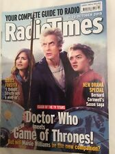 RADIO TIMES Mag DOCTOR WHO Peter Capaldi Game of Thrones Maisie Williams Oct2015