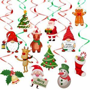 Hanging  Swirls Christmas Decorations Spiral Pendant Ceiling Hanging Garlands