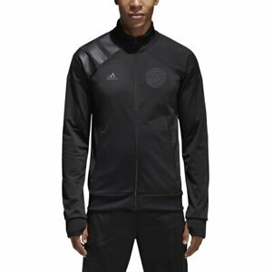 Adidas Manchester United L.I. Soccer Track Jacket Black Mens XS Extra Small NWOT