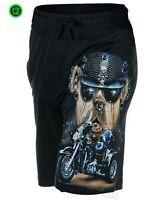 Spiral Direct SOUL SEARCHER Vintage Cargo Shorts Black//Skull//Darkwear//Reaper