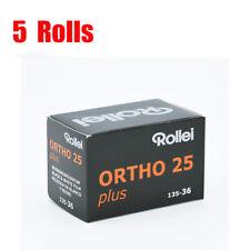 5 Rolls Rollei Ortho25 plus 35mm 135-36EXP Black&White Film Fresh 04/2021