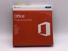 Microsoft Office 2016 Professional Windows English PC Key Card AND DVD