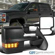 14-18 Silverado Sierra Power Heated Extending Towing View Mirrors+LED Signal