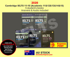 IELTS 11,12,13,14,15 (11-15 Academic) Five Student's Book with Answers & Audio