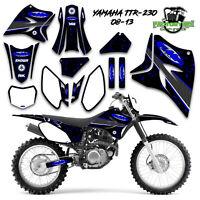05-19 YAMAHA TTR230 FMF Graphic Decal Kit Sticker TTR 230 2005-2019 Exhaust Blue