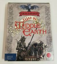 Atari War in Middle Earth St Vintage Computer Video Game Disks Box Manual Poster