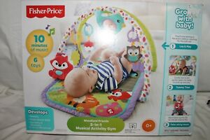 Fisher Price 3-in-1 Musical Activity Gym Woodland Friends
