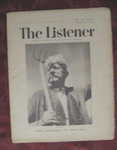 THE LISTENER August 14 1941 BBC Anthony Hurd Dorothy Edward Thompson