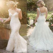 New white ivory mermaid lace wedding dress custom size 2 4 6 8 10 12 14 16 +