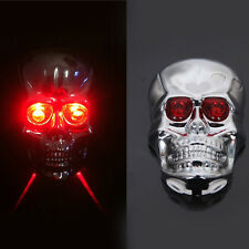 Skull LED Laser Mountain Road Lane Bike Bicycle Taillight Safety Warning Light&