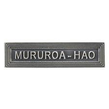 Agrafe pour médaille Ordonnance MURUROA-HAO