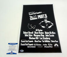 Al Pacino Signed Autograph The Godfather Part II Movie Poster Beckett BAS COA