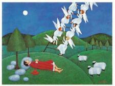 """Postcard Joan Landis """"Jacob's Ladder"""" Jewish Artist MINT"""