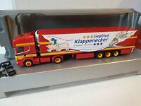 SCANIA 144<< Klappenecker  Kühltransporte >> 74626 Bretzfeld / SCHLITTEN + BÄREN