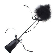 Leather&Feather Whip Flogger Sex Tool Restraint Fetish Adult Game Black New
