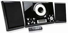 Grouptronics GTMC-101 Black CD Player Stereo with FM radio, Clock   Alarm   Wall