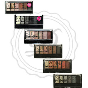 Technic Eyeshadow Palette - Nude Matte Shimmer Smokey Brown Eyes 6 Colours Shade