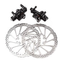 Mechanical Disc Brake MTB Bike Cycling Bicycle Front Rear Caliper 160mm Rotors
