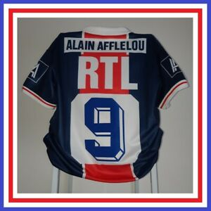 Maillot PSG 1990-1991 #9 Felt Paris Saint-Germain Shirt Trikot Maglia Camiseta