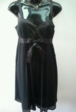 PORTMANS Size 6 Fabulous Little Black DRESS Satin Straps NEW w/tags RRP $129.95