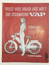 Prospectus Cyclomoteur VAP  Non daté  brochure catalogue