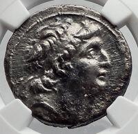 Antiochos VII SELEUKID Ariarathes VII Tetradrachm Silver Greek Coin NGC i60184