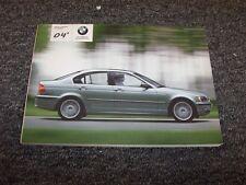 2004 BMW 320i 325i 325xi 330i 330xi 3-Series Owner Owner's Operator Guide Manual