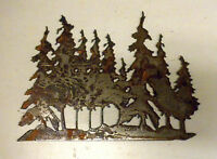 "6"" Tree Grove Forest Rusty Rough Metal Wall Art Craft Stencil Vintage DIY Sign"