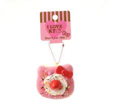 SANRIO HELLO KITTY Pink Yellow Cake Kawaii RARE Squishy Cellphone Charm Keychain