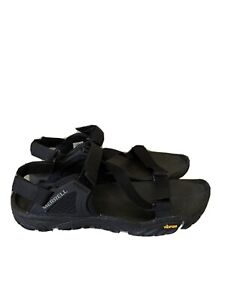 Merrell All Out Blaze Web Hiking Black Vibram Sandals Shoes Mens Size 12 J37647