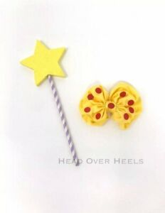 Room On The Broom Inspired Yellow Star Wand & Hair Clip