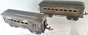 Ives 129 Saratoga Drawing Room and 130 Buffet Combination Passenger Cars 1925