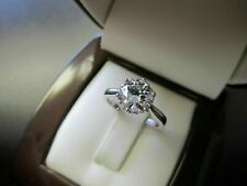 1.5Ct Round Cut Diamond Vintage Solitaire Engagement Ring 18ct White Gold Over