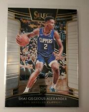 2018 Select Shai Gilgeous Alexander RC ROOKIE Card