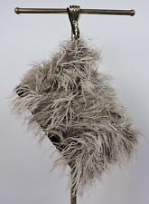 ANTIQUE 1930'S OSTRICH FEATHER COVERED MUFF FOR DRESS