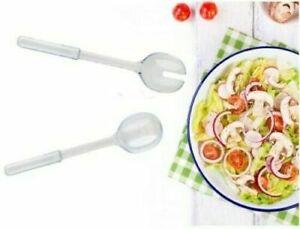 Large Plastic Serving Spoon & Fork for Salads Serving Spoons Set