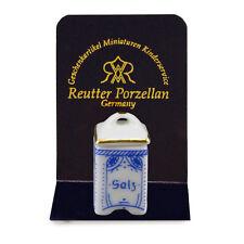 Reutter Porzellan Cucina Barattolo Sale Kitchen Salt Box bambole Tube 1:12 art. 1.969/0
