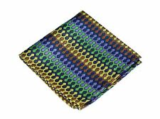 Lord R Colton Masterworks Pocket Square - Dragon Skin Navy Yellow Silk - $75 New