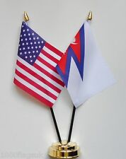 United States of America & Nepal Double Friendship Table Flag Set