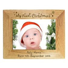 PERSONALISED BABYS MY 1ST FIRST CHRISTMAS GIFT PHOTO FRAME unique present idea