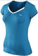 New $50 XS Nike Accuracy SS Top 382525 Tennis Turquoise Blue White