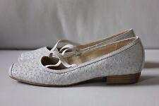 CAPRICE Slipper Größe 4 (Gr. 37) weiß Leder kaum getragen