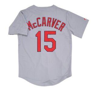 Tim McCarver St. Louis Cardinals Grey Road Jersey Men's (M-2XL)
