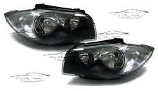 HEADLIGHTS DARK FOR BMW E81 E82 E87 E88 2004 SERIES 1 NEW LAMPS FARI
