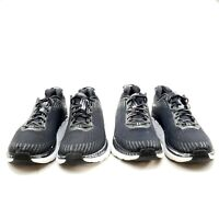 Hoka One One Clifton 5 Knit Mens Black Size 15 Running Shoes 2 Pair 1093755 BWHT