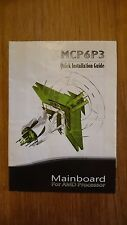 MCP6P3 Quick Installation Guide, Mainboard Handbuch for AMD Processor