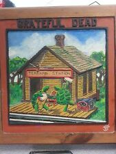 Grateful Dead's Terrapin Station  hand carved album cover on wood
