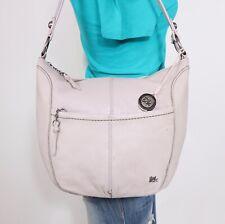 THE SAK Medium Beige Leather Shoulder Hobo Tote Satchel Purse Bag