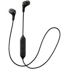 100% Genuine JVC Gumy Wireless Bluetooth Remote & Mic Headphones Inear Black NEW